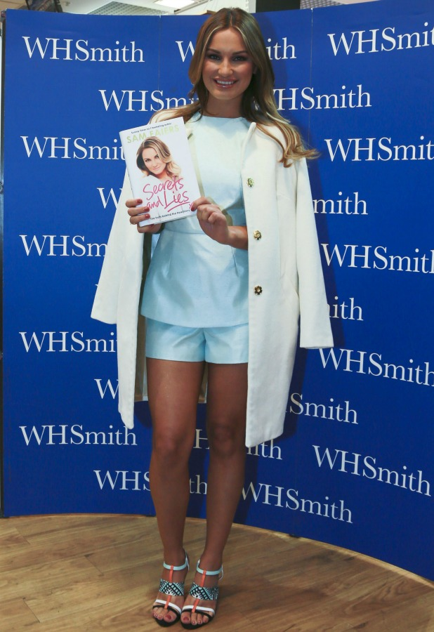 Sam Faiers signs copies of her new book 'Secrets and Lies: The truth behind the headlines' at WHSmith within the Meadowhall Shopping Centre 16 May 2015