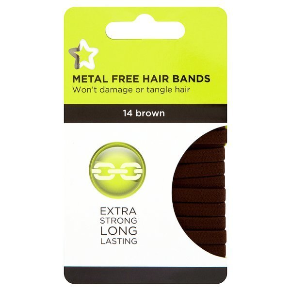 Superdrug Brown Large Hairbands
