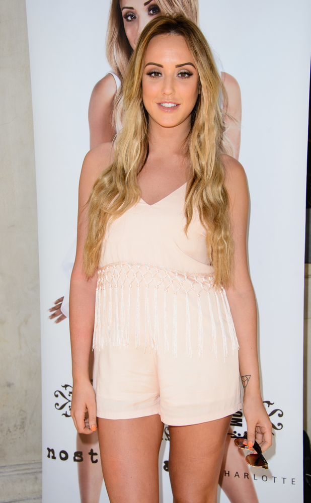 Geordie Shore star Charlotte Crosby launches her new summer fashion collection in Soho with online fashion brand In The Style 13/05/15