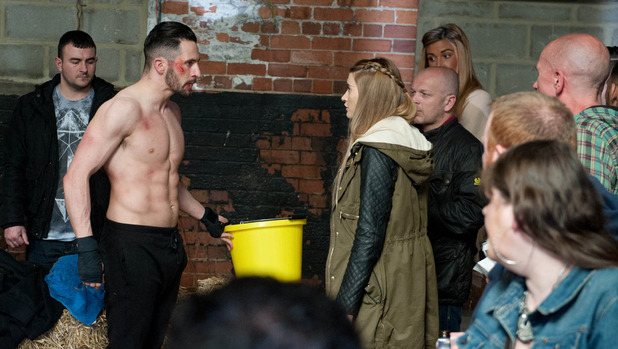 Emmerdale, Ross fights, Mon 25 May