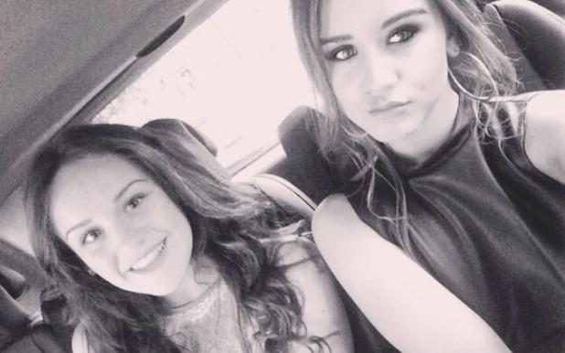 Brooke Vincent blog: Brooke and her cousin Ellie 20 May