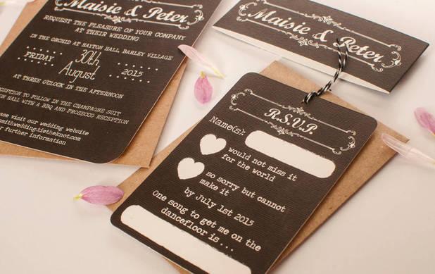 Norma & Dorothy wedding invitations