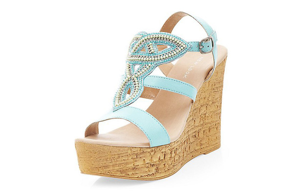 New Look green/blue wedges 22nd May 2015