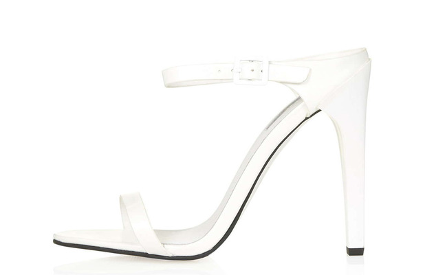 Topshop white strappy mule heeled sandals, £46 21st May 2015