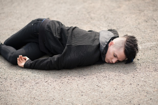 Hollyoaks, Dylan run over, Mon 25 May