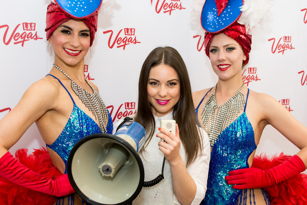 Louise Thompson, Las Vegas and Made In Chelsea joined forces to launch a nationwide search for the best British accent, 20th May 2015