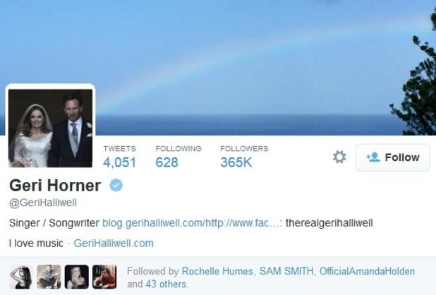 Geri Halliwell changes name to Geri Horner on social media, Twitter 22 May