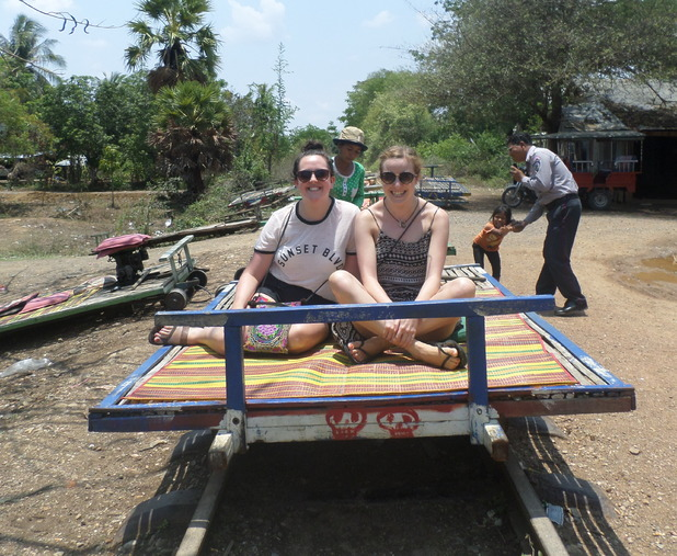 Bamboo train in Battambang, 19/5/15