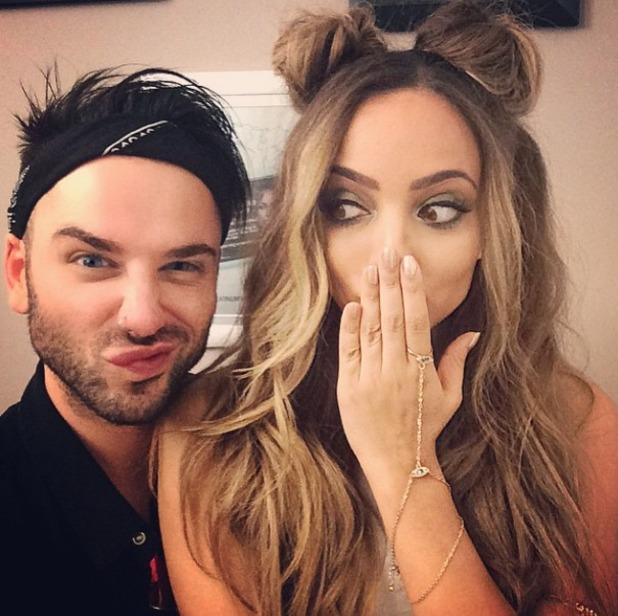 Jade Thirlwall shows off her Minnie Mouse hair, thanks to Aaron Carlo, 21 May 2015