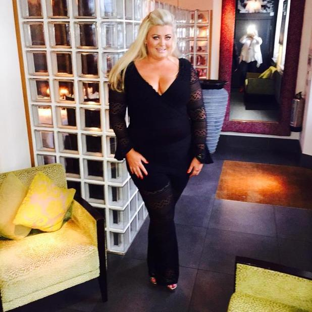 TOWIE star Gemma Collins enjoys night out at Sugar Hut, 22 May 2015