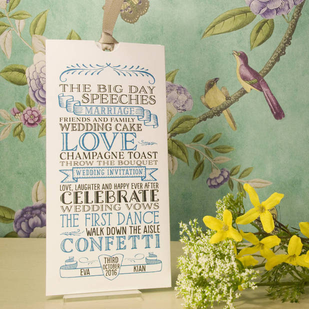 Not On The High Street wedding invitations