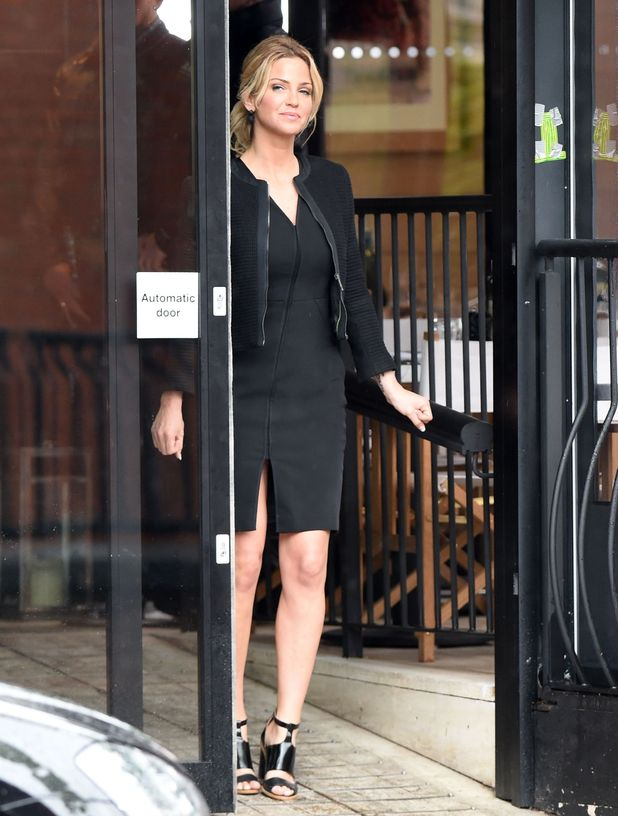 Sarah Harding pictured in her first scene in Coronation Street, she plays a rival of Tracy Barlow.18th May 2015