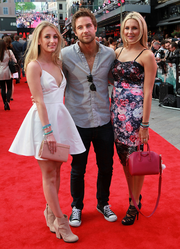 Stephanie Pratt, Josh Shepherd, Tiffany Watson attend the UK Premiere of 'San Andreas' at Odeon Leicester Square 21 May