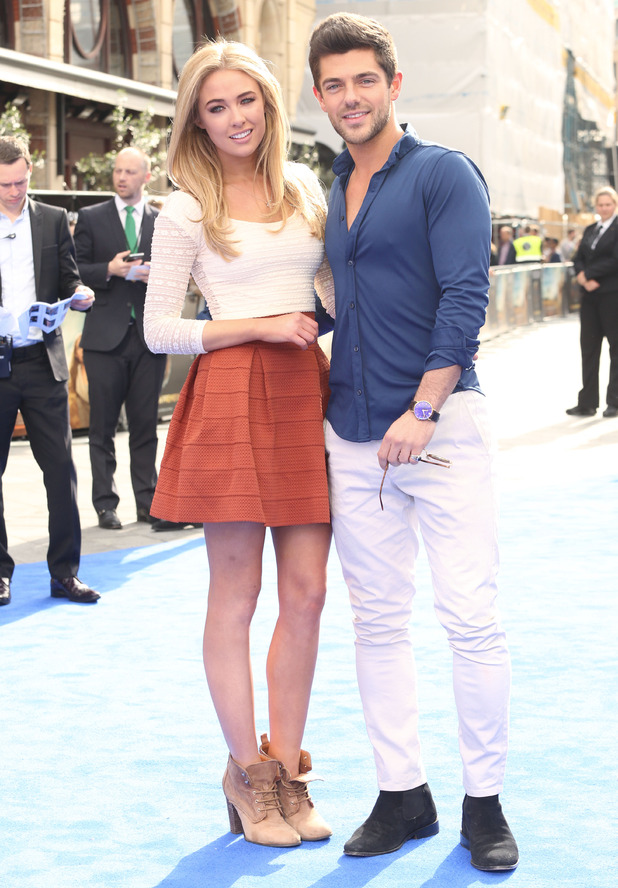 Nicola Hughes and Alex Mytton attend Tomorrowland premiere, London 17 May