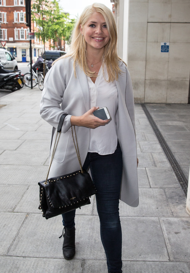 Holly Willoughby outside Radio 1, BBC Studios, London 22 May