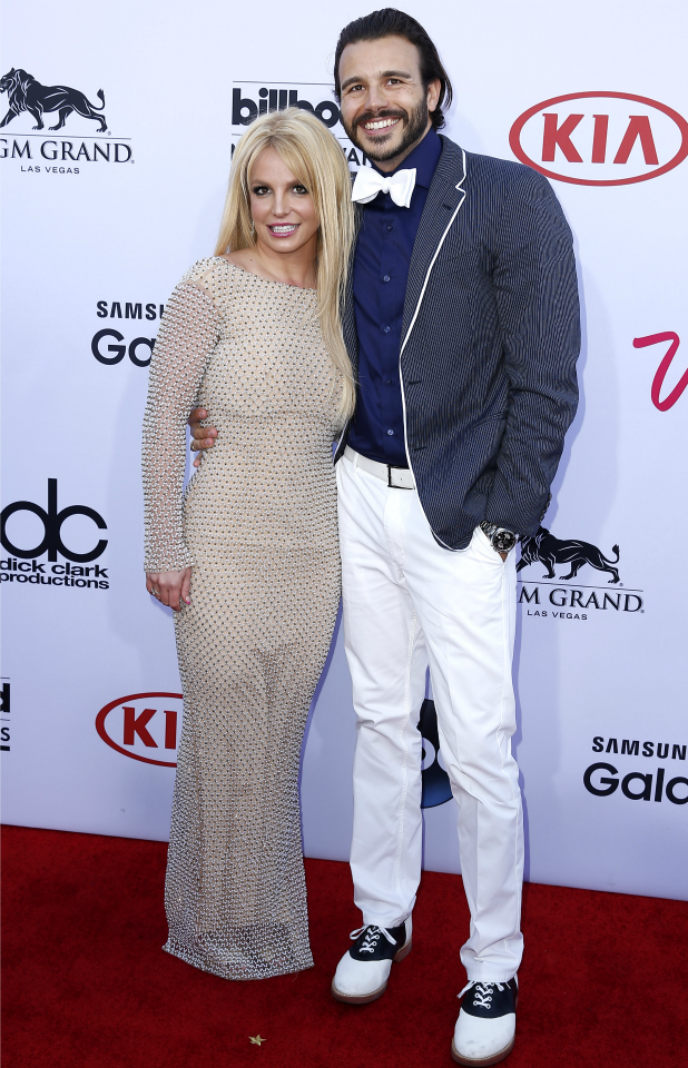 Britney Spears and Charlie Ebersol, 2015 Billboard Music Awards Arrivals at MGM Grand Garden Arena Las Vegas