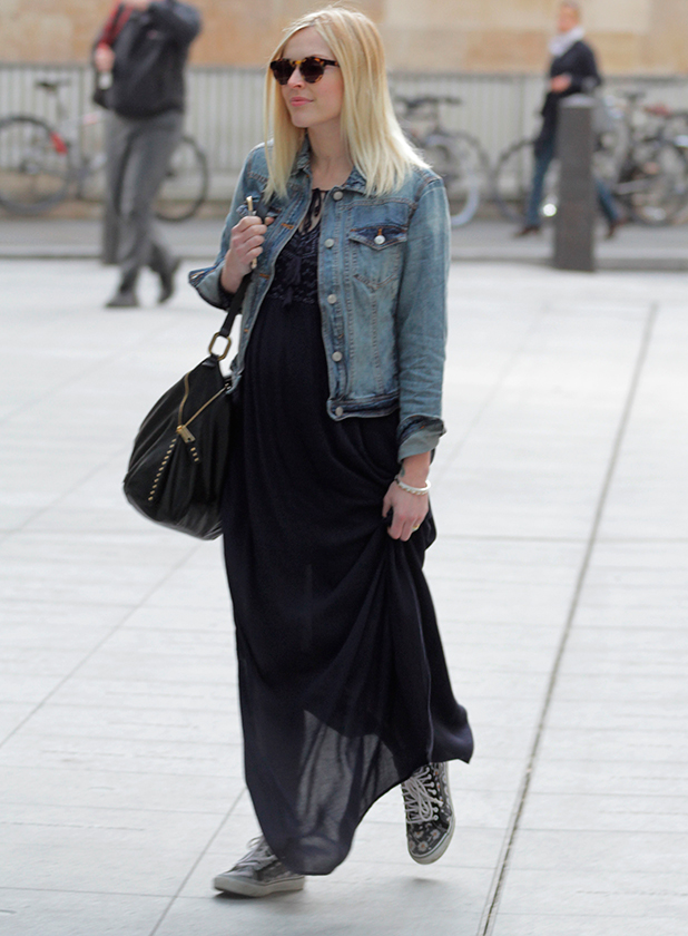 Fearne Cotton arriving at the BBC Radio 1 studios, 20 May 2015