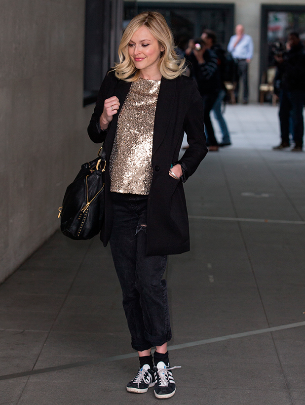 Fearne Cotton arriving at BBC Radio 1, 19 May 2015