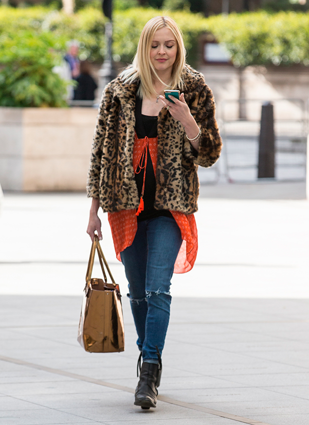 Fearne Cotton arriving at the BBC Radio 1 studios, 21 May 2015