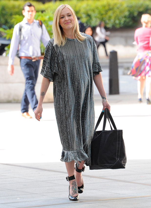 Fearne Cotton arrives for her last day at BBC Radio 1 22 May 2015