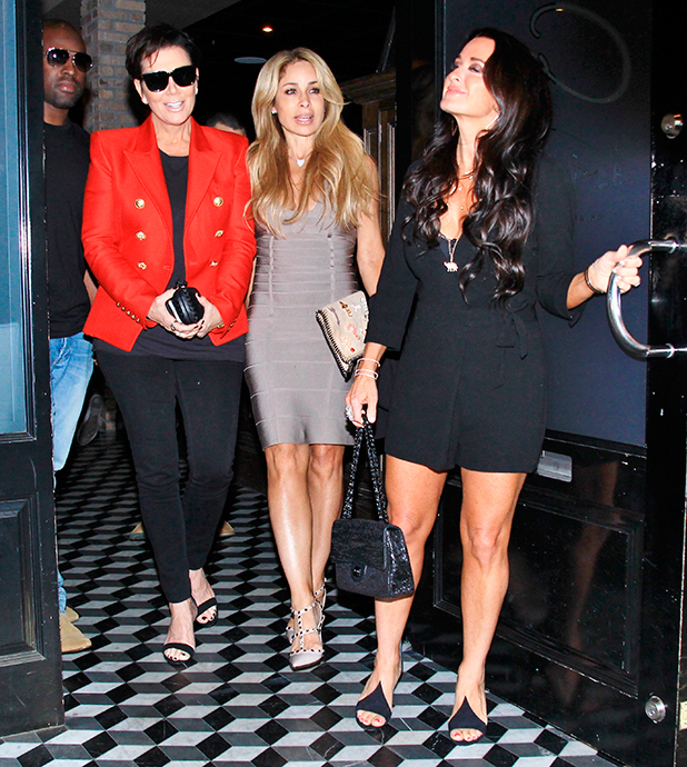 Kris Jenner and Corey Gamble leave Craig's restaurant in West Hollywood after having dinner, 20 May 2015