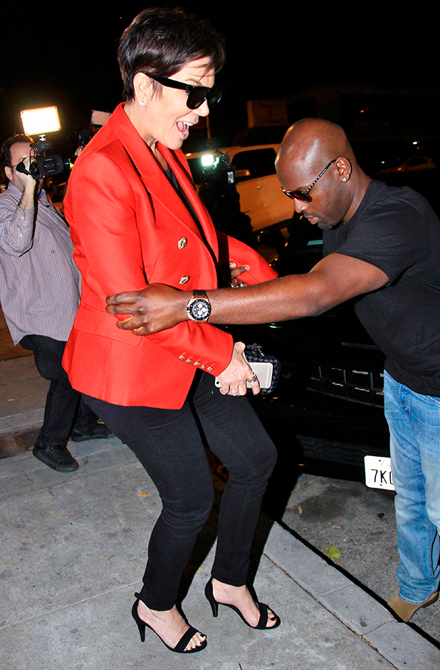 Kris Jenner and Corey Gamble eave Craig's restaurant in West Hollywood after having dinner, 20 May 2015