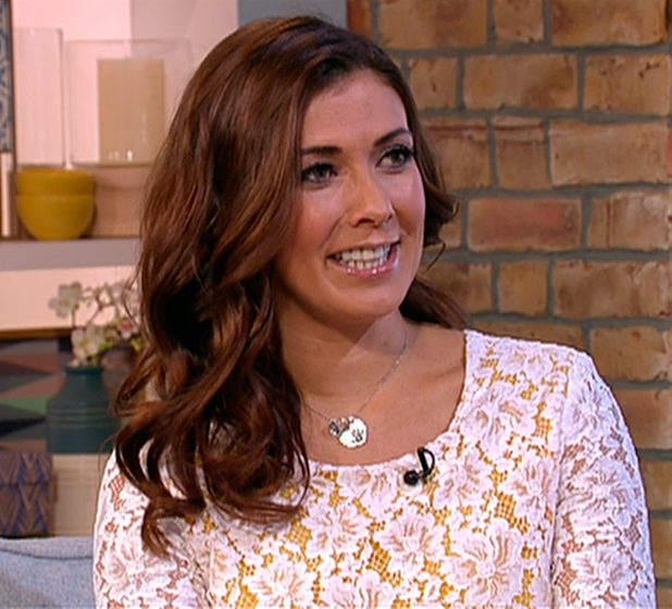 Kym Marsh discussing future storylines for her character in ITV soap opera 'Coronation Street', on 'This Morning'. Broadcast on ITV1 HD.