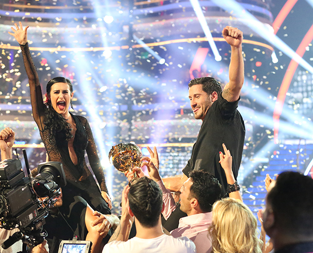 Rumer Willis and Val Chmerkovskiy were crowned the 10th Anniversary Season Champions and winners of the Gold Mirrorball trophy, on the Season Finale, TUESDAY, MAY 19 (9:00-11:00 p.m., ET) on the ABC Television Network.