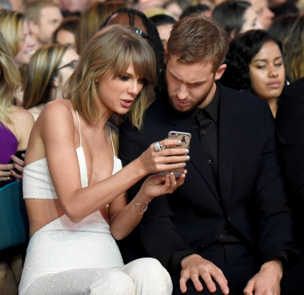 Taylor Swift (L) and Calvin Harris attend the 2015 Billboard Music Awards at MGM Grand Garden Arena on May 17, 2015 in Las Vegas, Nevada. (Photo by Kevin Mazur/BMA2015/WireImage)