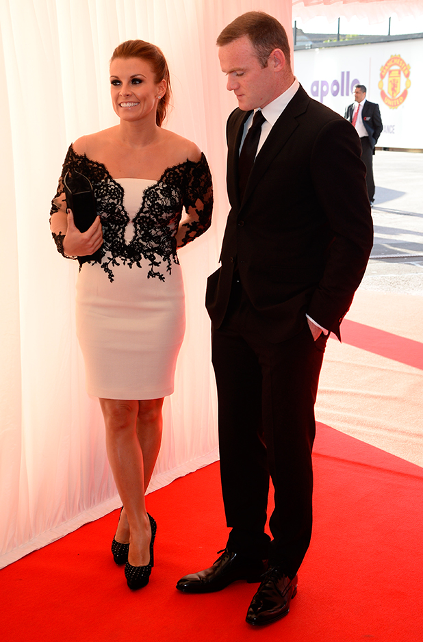 Coleen and Wayne Rooney, Manchester United Player of the Year Awards 2015, May 19