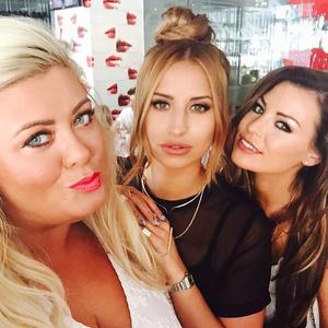 TOWIE ladies Gemma Collins, Ferne McCann and Jessica Wright stun in Marbs, 30 May 2015