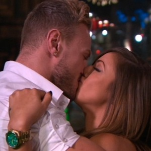 Kyle Christie and Holly Hagan kiss, Geordie Shore, Series 10 finale 26 May