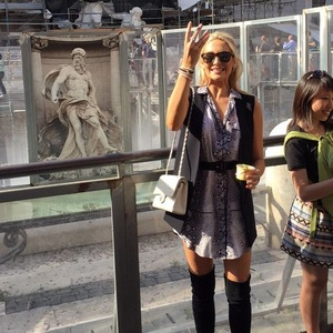 Stephanie Pratt in Rome, Instagram 26 May