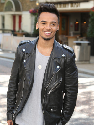 Aston Merrygold outside the ITV Studios, 27th May 2015