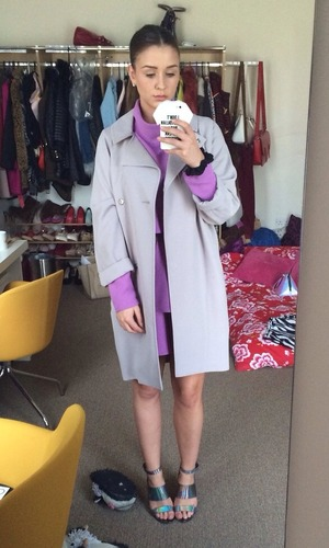 Brooke Vincent blog picture - 27 May: showing off Sophie's Corrie wardrobe.