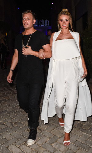 Chloe Sims parties with TOWIE cast members at Cavalli Club in Marbella on it's grand opening night, 20 May 2015