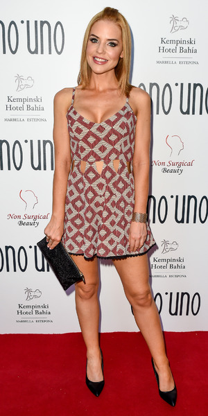 Hollyoaks' Stephanie Waring attends launch of Nadine Merabi's new 'Ono Uno' collection, 29 May 2015