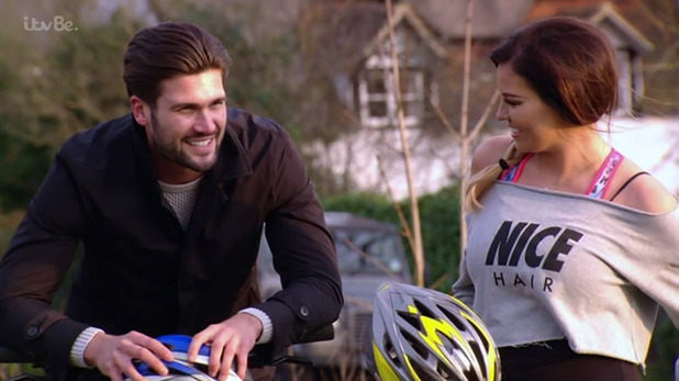 Jessica Wright and Dan Edgar on a non-date date on The Only Way Is Essex - 18 March 2015.