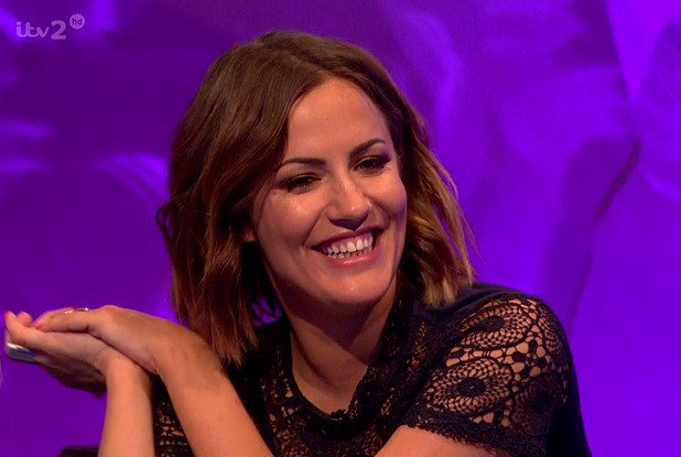 Caroline Flack appears on an episode of Celebrity Juice - 22 March 2015.