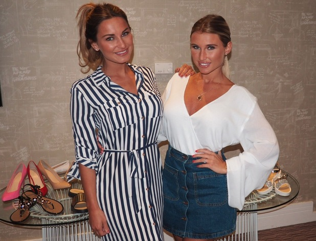 Sam and Billie Faiers launch shoe collection, Carlton London 26 May