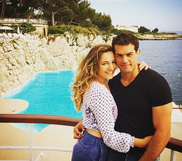 Kelly Brook and Jeremy Parisi celebrate his 30th birthday, French Riviera 25 May