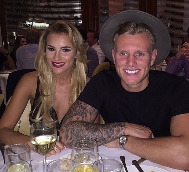 TOWIE's Georgia Kousoulou joins boyfriend Tommy Mallet for a birthday meal - 28 May 2015.