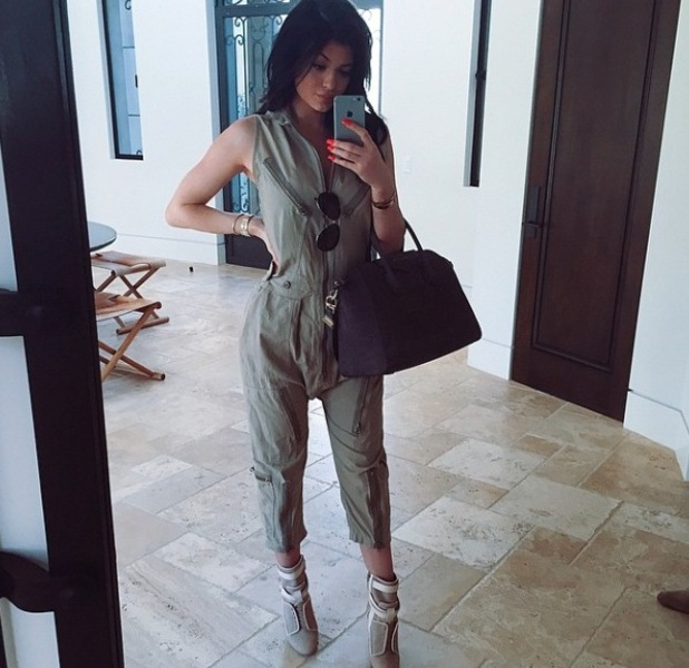 Kylie Jenner posts picture of her wearing jumpsuit to Instagram account 28th May 2015