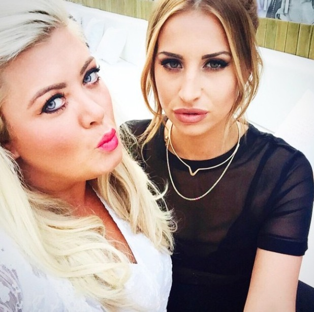 Ferne McCann and Gemma Collins pose while in Marbella for TOWIE filming, 30 May 2015