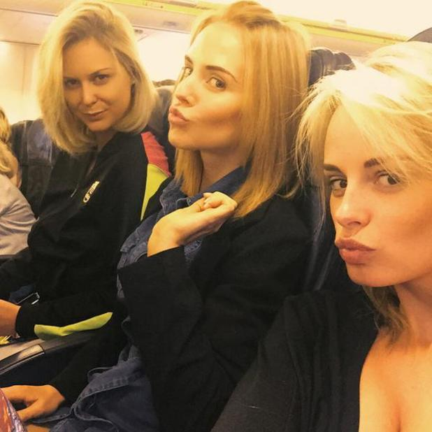 Hollyoaks' Stephanie Waring heads off on holiday with pals, including Rhian Sugden, 29 May 2015
