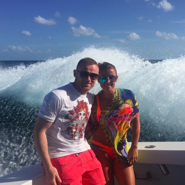 Coleen Rooney and husband Wayne enjoy holiday together, 29 May 2015
