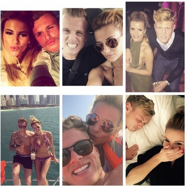 Georgia Kousoulou posts a montage of her and Tommy Mallet for his birthday, 28th May 2015