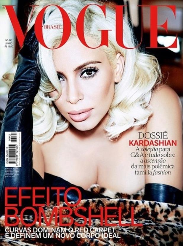 Kim Kardashian channels Marilyn Monroe in Vogue Brazil shoot, 26th May 2015