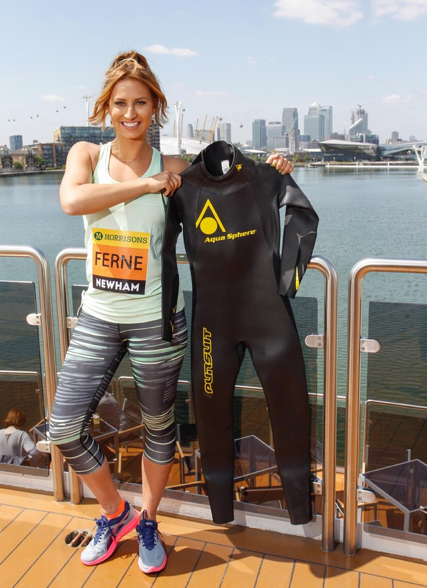 TOWIE's Ferne McCann signs up for the Great Newham London Run and Swim 27 May