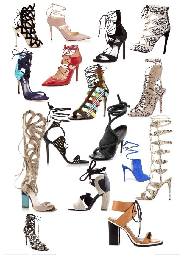 Brooke Vincent blog picture - 27 May: selection of strappy heels.